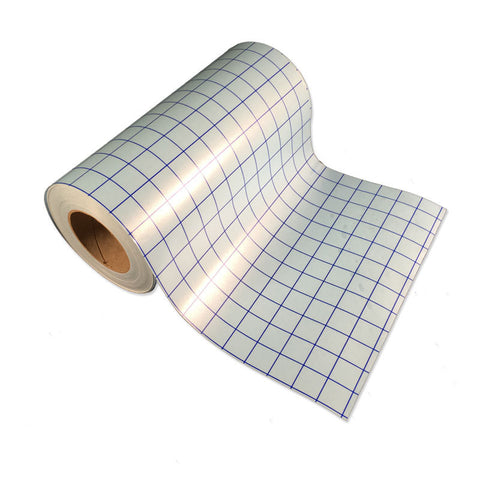 "Adhesive Vinyl Transfer Tape - 5 12x12"" Sheets Blue-Line Clear Transfer Tape - Craft Vinyl Application Transfer Tape, Single Sheet Transfer Tape With 1 Inch Grid Lines - Carolina Crafter Supply"