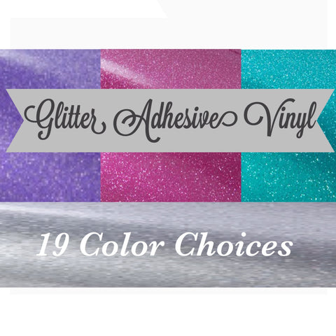 "Adhesive Vinyl - 12x24"" Glitter Adhesive Vinyl Permanent Vinyl Oracal 651 Equivalent FDC 3700 Ultra Metallic & GT Ultra Metallic Glitter Vinyl Pick Your Color - Carolina Crafter Supply"