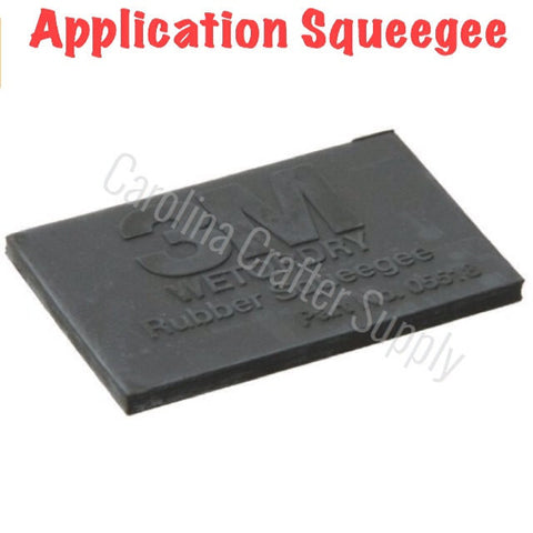 "Rubber Application Squeegee 2x3"" Vinyl Squeegee Wet Or Dry Squeegee 3M"