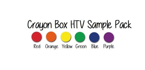 "Siser EasyWeed HTV Sample Pack - Crayon Box HTV Pack - Monthly Sample Pack 6 12x15"" Sheets Heat Transfer Vinyl Iron-On Vinyl - Carolina Crafter Supply"