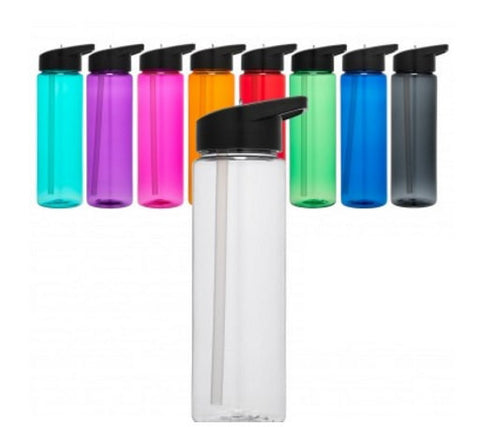 Set of 2 Tritan Sport Water Bottles 24 ounces 9 colors to choose Built-In Flip Down Straw Summit Tritan Sports Bottles Blank Ready To Decorate