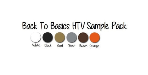 Siser HTV Sample Pack - Back To Basics October HTV Variety Pack - 6 Full Size Sheets EasyWeed HTV Iron-On Heat Transfer Vinyl - Carolina Crafter Supply