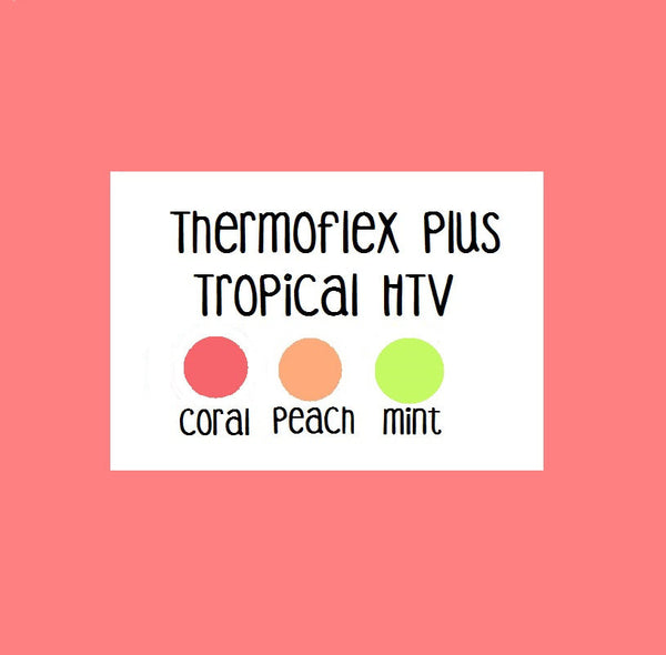 Heat Transfer Vinyl Stretch Htv Tropical Htv Colors