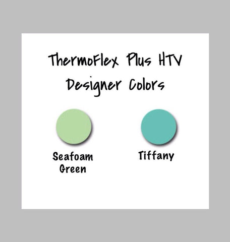 Thermoflex Heat Transfer Vinyl - Designer HTV Colors, Thermoflex Plus Seafoam, Tiffany Blue, Sea Foam Green, Heat Transfer Vinyl 12x15 Sheet, Choose Your Colors - Carolina Crafter Supply