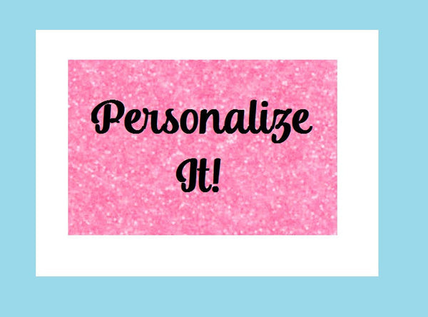 Personalize It! Upgrade, Add on Personalization to any tumbler or water bottle, Custom Options Available, Personalized Tumbler, Monogram - Carolina Crafter Supply
