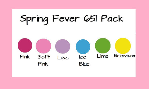 "Spring Fever Oracal 651 Variety Pack 12x12"" Adhesive Vinyl 6 Sheet Pack 651 Vinyl Pink 651 Soft Pink 651 Decal Vinyl Free Shipping - Carolina Crafter Supply"