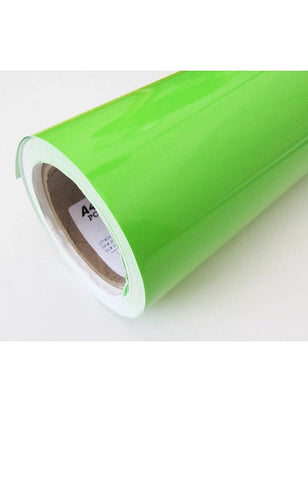 "Adhesive Vinyl - 12x12"" Sheet LIME Green Adhesive Vinyl, Enduragloss Permanent Outdoor Sign Vinyl, Oracal 651 Equivalent"