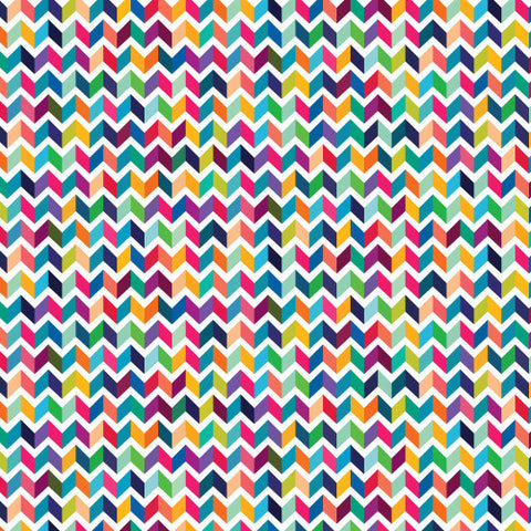 "Patterned HTV - Chevron Patterned Heat Transfer Vinyl, Multi-Color Chevron Heat Transfer Vinyl, Patterned HTV With Transfer Mask Included! 12x12"" Sheet - Carolina Crafter Supply"