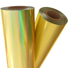 "Adhesive Vinyl - Gold Oil Slick Vinyl, Oil Slick Holographic Effect Adhesive Vinyl 12x12"" Sheets Permanent Vinyl Oracal 651 Equivalent Vinyl - Carolina Crafter Supply"