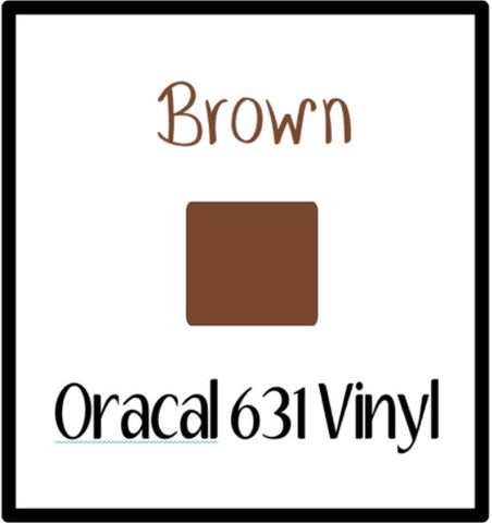 "Brown Oracal 631 Removable Adhesive Vinyl 12x12"" Sheet Matte Wall Decal Vinyl Brown Oracal 631 Vinyl indoor wall safe vinyl Removable Vinyl - Carolina Crafter Supply"