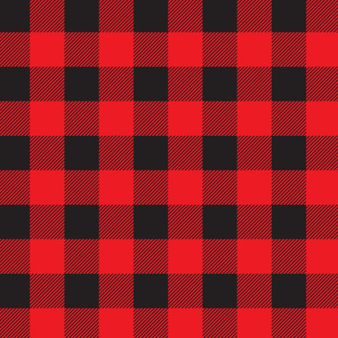 Buffalo Plaid Adhesive Vinyl, Red & Black Plaid Vinyl