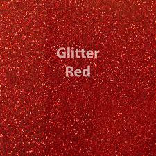 "Siser Glitter HTV - 1 12x20"" Red Siser Glitter HTV, Siser Glitter Heat Transfer Vinyl, Red Glitter HTV - Carolina Crafter Supply"