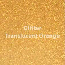 "Siser Glitter HTV - 1 12x20"" Translucent Orange Siser Glitter HTV, Siser Glitter Heat Transfer Vinyl, Orange Glitter HTV - Carolina Crafter Supply"