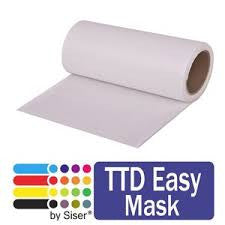 Heat Transfer Vinyl Carrier Sheet - Siser TTD Easy Mask  HTV Transfer Mask, Patterned HTV Transfer Sheet - Carolina Crafter Supply