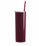 Steel Skinny Tumbler - 20 Ounce Powder Coated Stainless Steel Skinny Tumbler