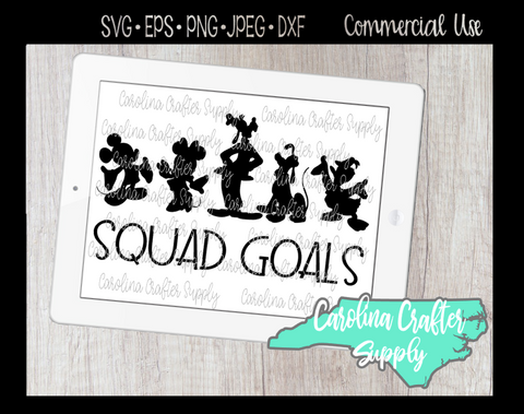 Disney Friends Squad Goals SVG