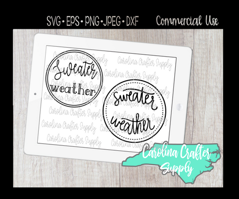 Sweater Weather SVG, Fall SVG, Autumn SVG