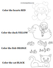 colors, preschool activities