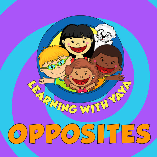 opposites, educational videos, songs and books, preschool materials, materials for speech and language therapy