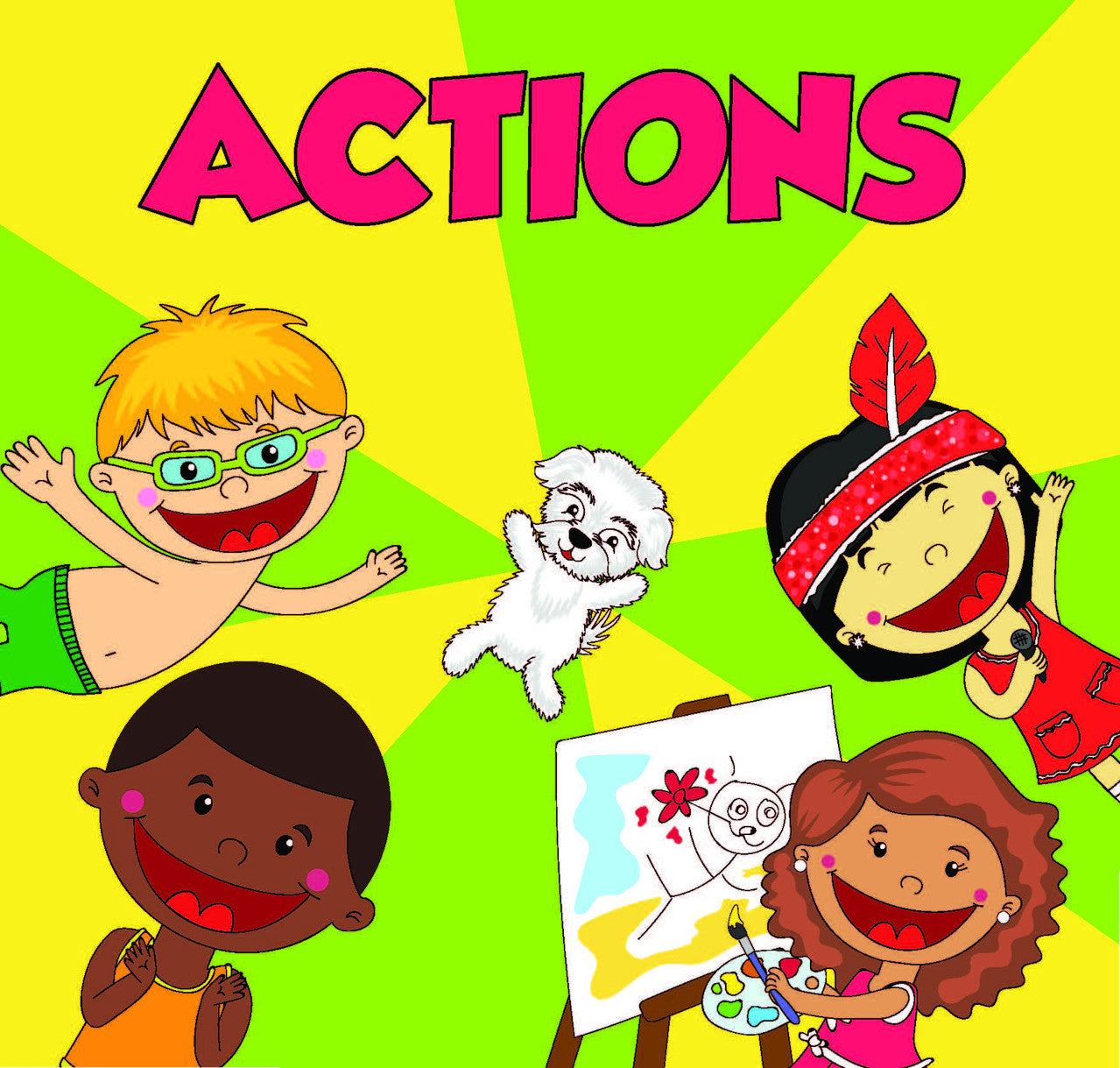 actions, preschool materials, speech therapy materials