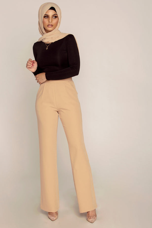 Camel High Waist Pants