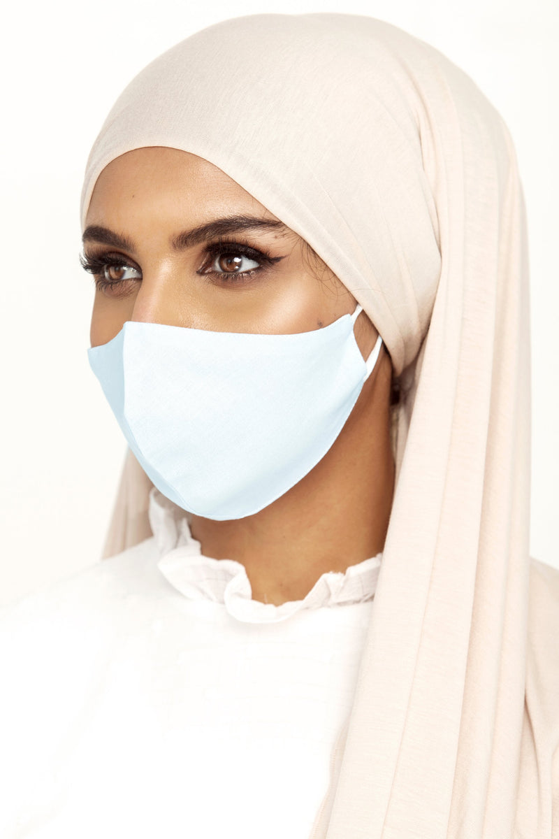 Cotton Face Mask - Baby Blue