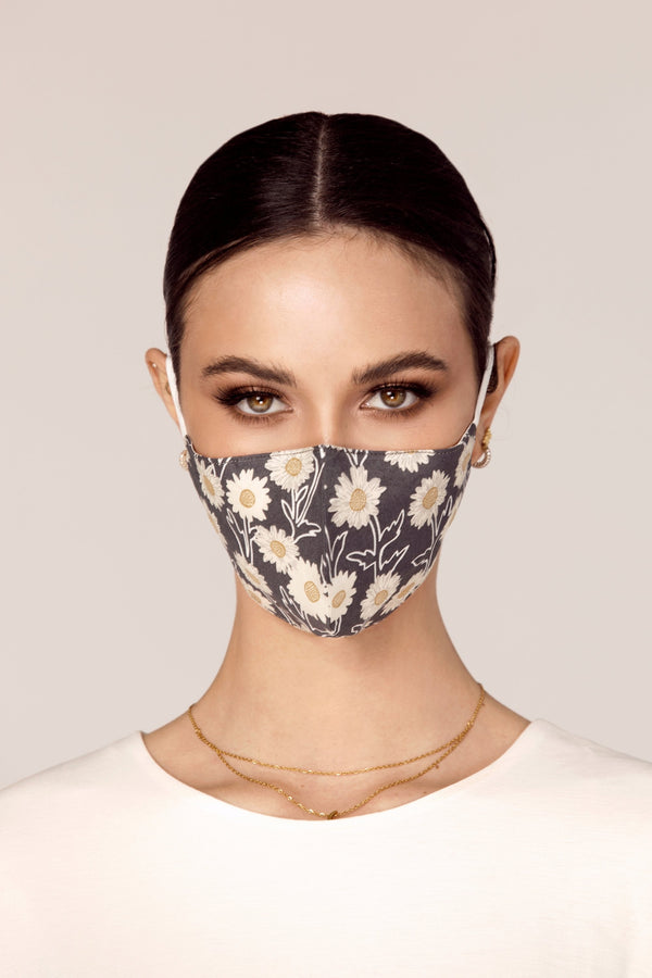 Cotton Face Mask - Daisy Floral