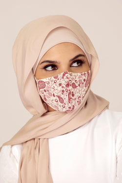 Cotton Face Mask - Paisley