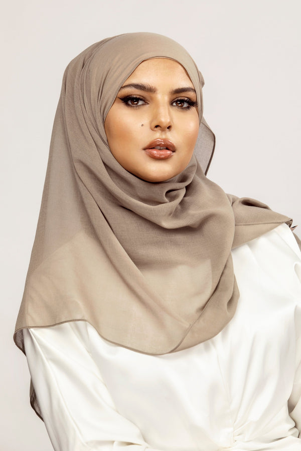 Essential Woven Hijab - Desert Taupe