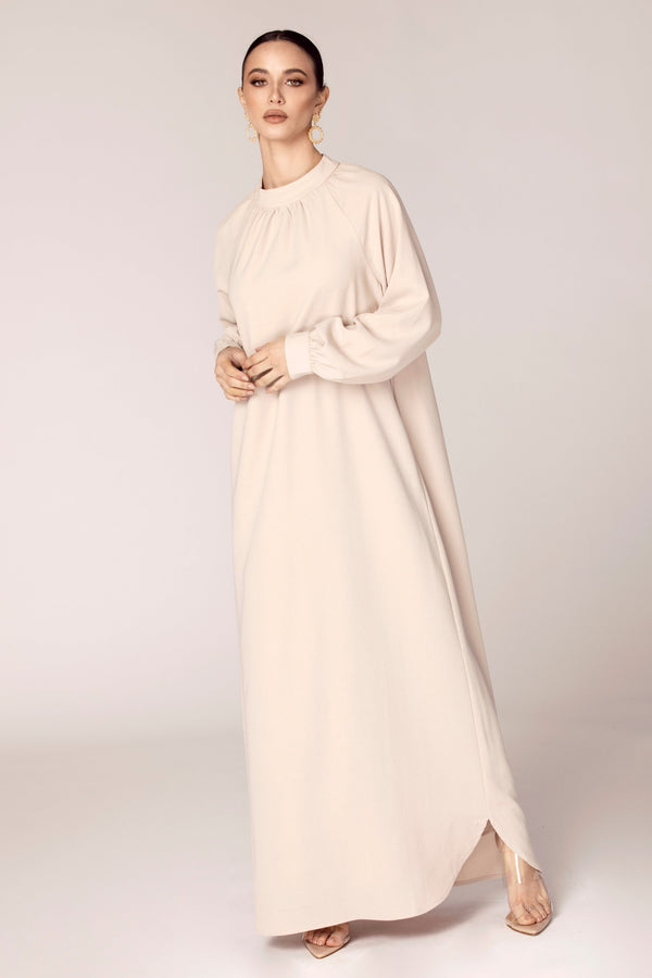 Dulce Balloon Sleeve Maxi Dress