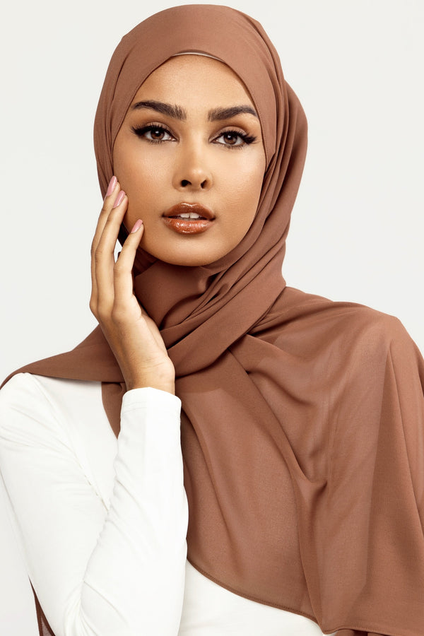 Essential Chiffon Hijab - Chocolate Creme