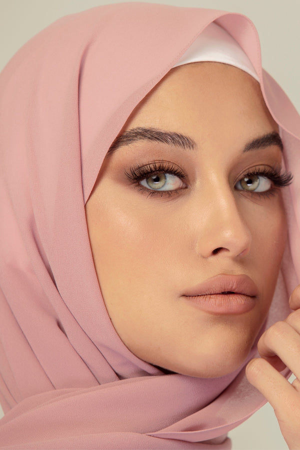 Essential Chiffon Hijab - Dusty Mauve
