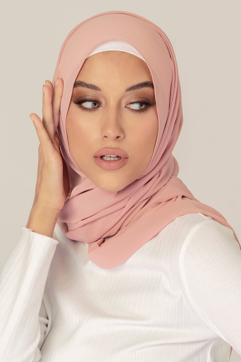 Essential Chiffon Hijab - Dusty Pink