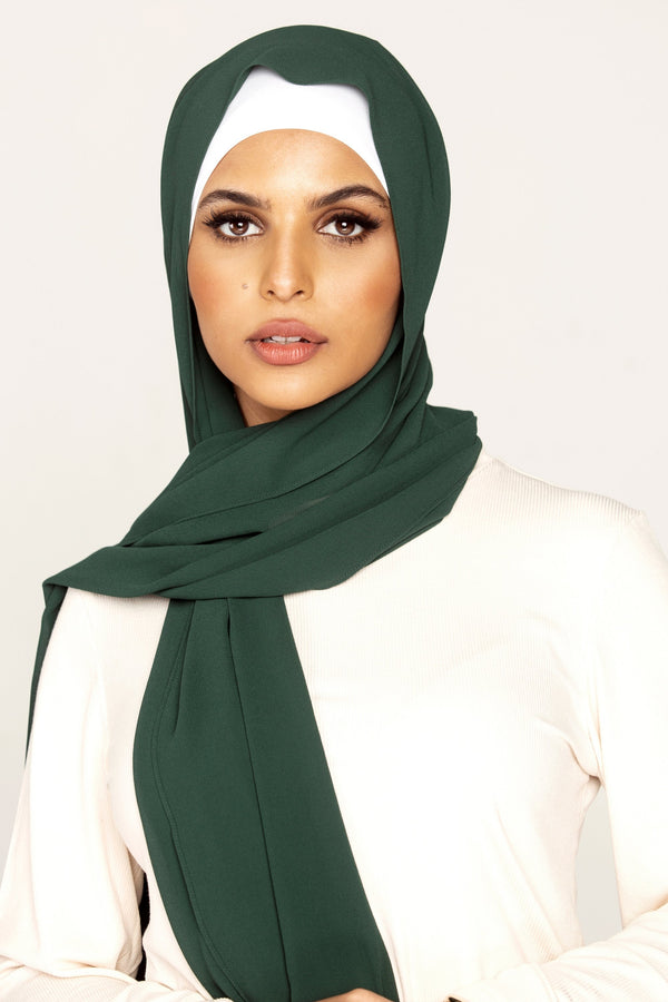 Essential Chiffon Hijab - Forest Green