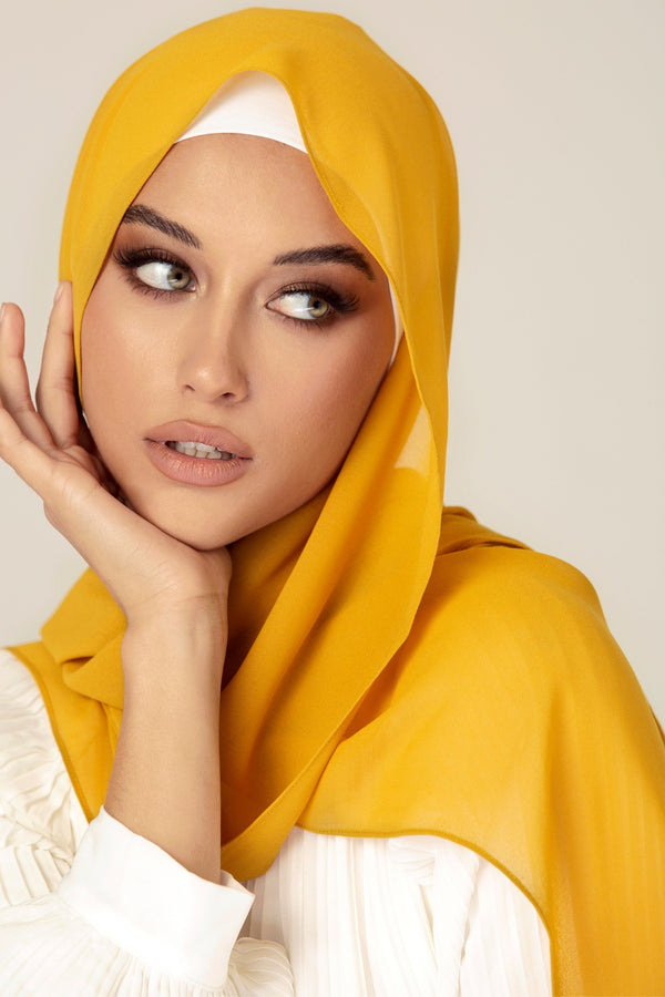 Essential Chiffon Hijab - Golden