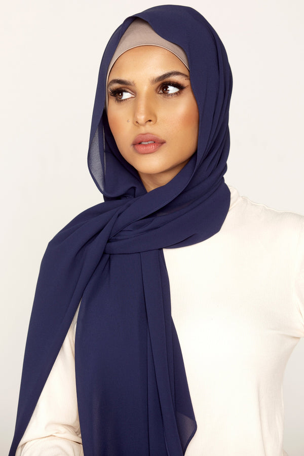 Essential Chiffon Hijab - Midnight Blue