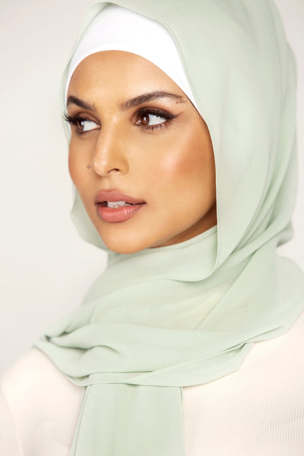 Essential Chiffon Hijab - Mint Tea