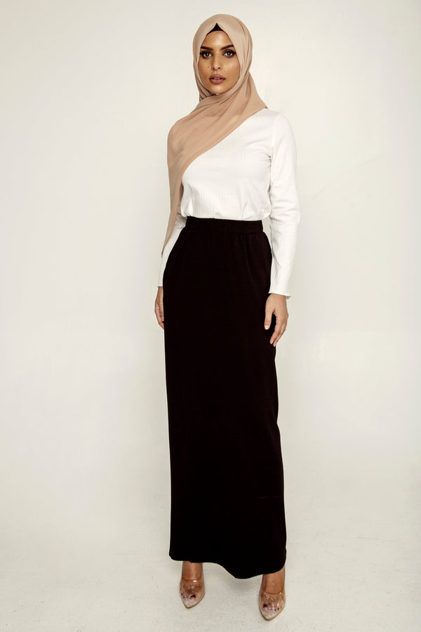 Essential Maxi Skirt - Black