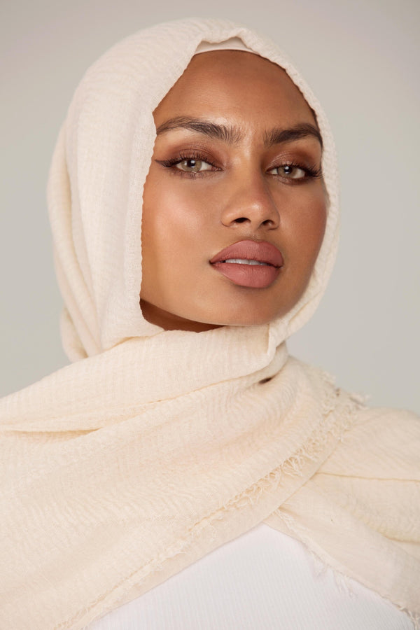 Everyday Crinkle Hijab - Alabaster