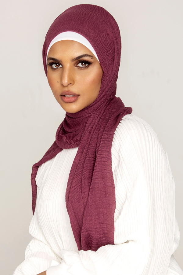 Everyday Crinkle Hijab - Boysenberry