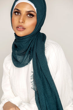 Everyday Crinkle Hijab - Deep Ocean