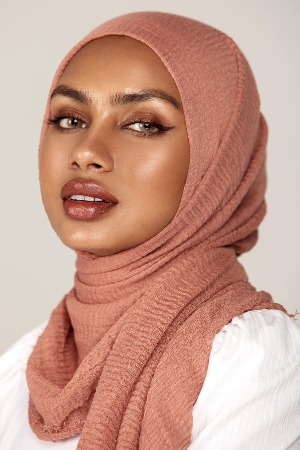 Everyday Crinkle Hijab - Desert Rose