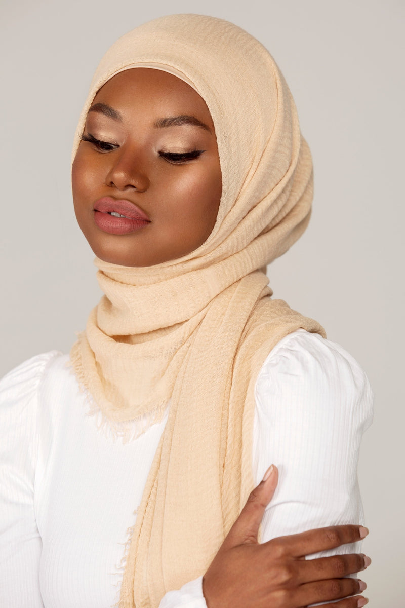 Everyday Crinkle Hijab - French Vanilla