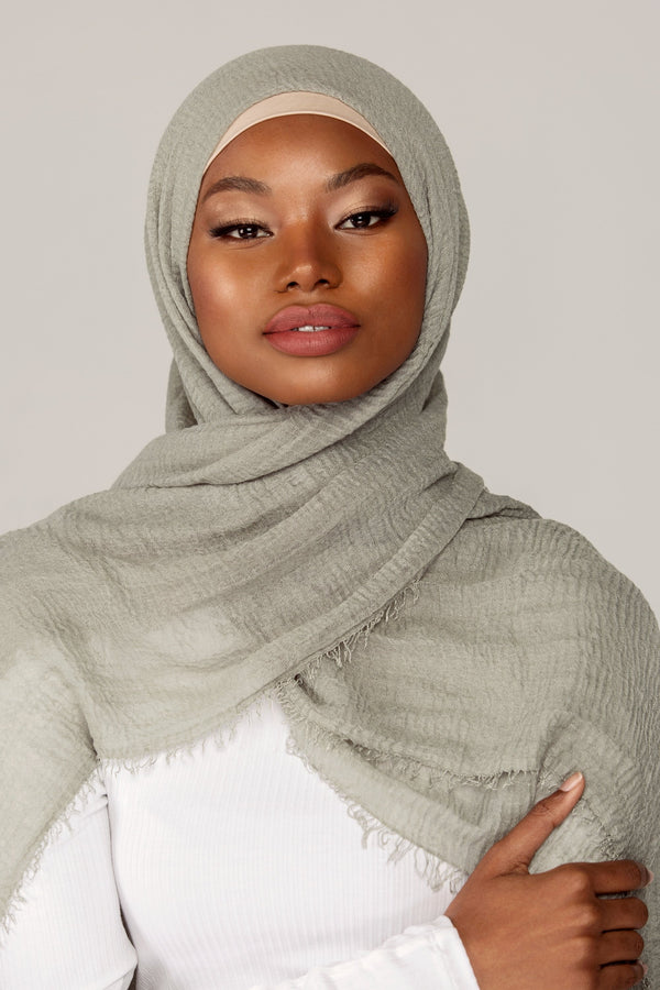 Everyday Crinkle Hijab - Nile Green