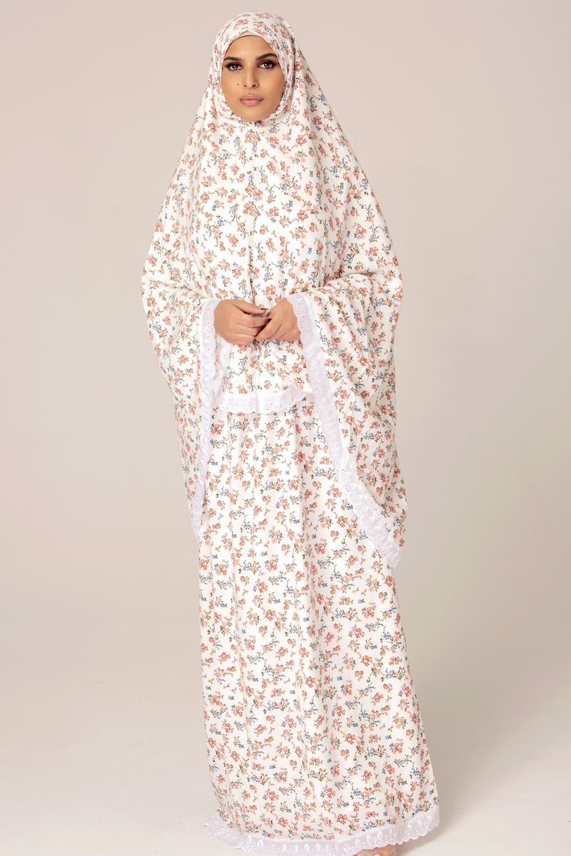 Prayer Two Piece Set - White Floral