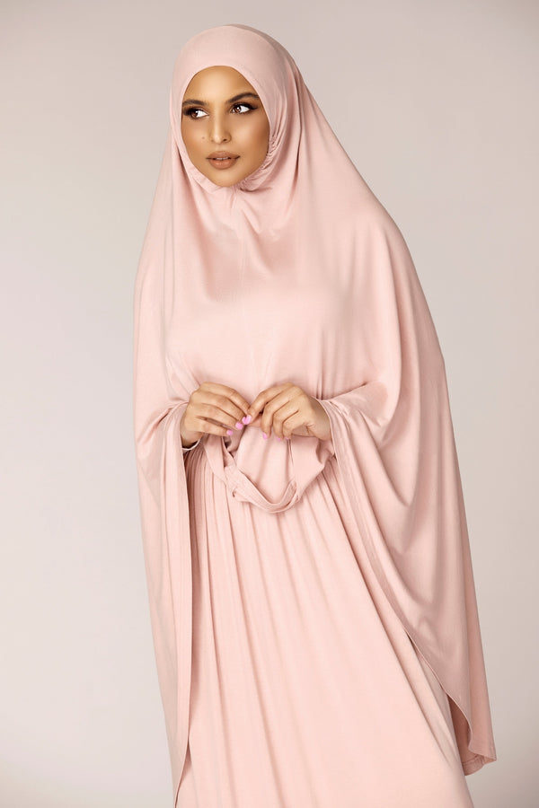 Jersey Prayer Two Piece Set - Dusty Pink