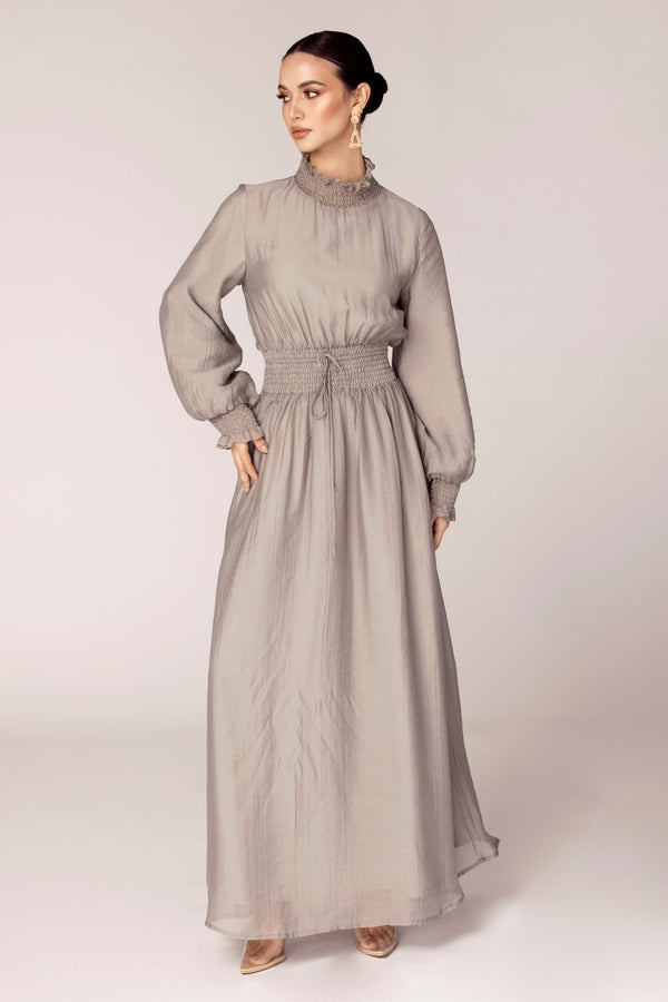Julia Sage Mock Neck Maxi Dress