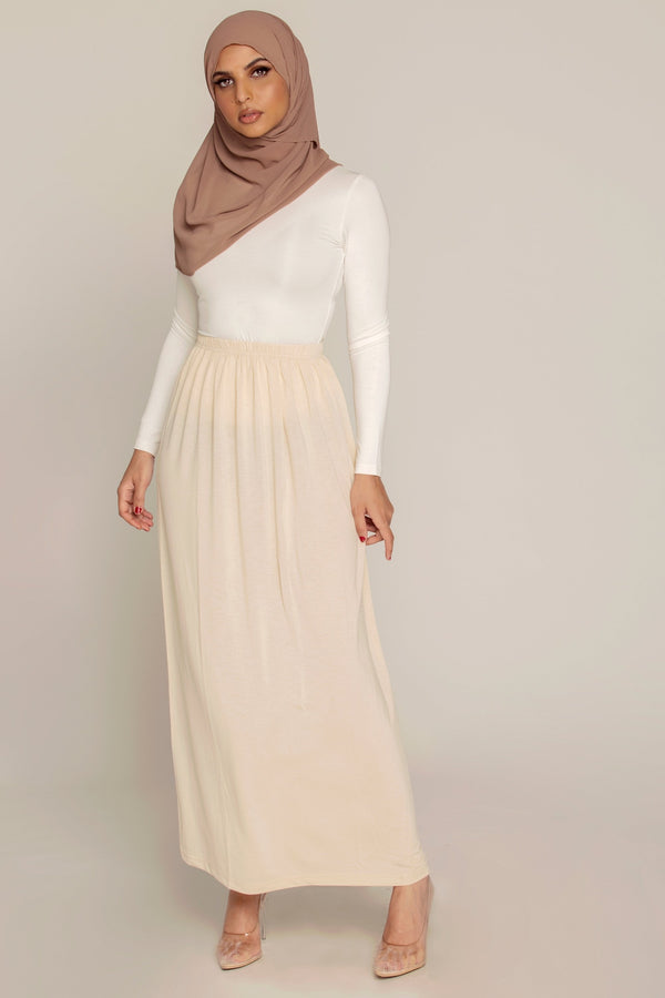 Light Nude Slip Skirt