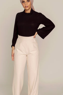 Light Nude Wide Leg Pants