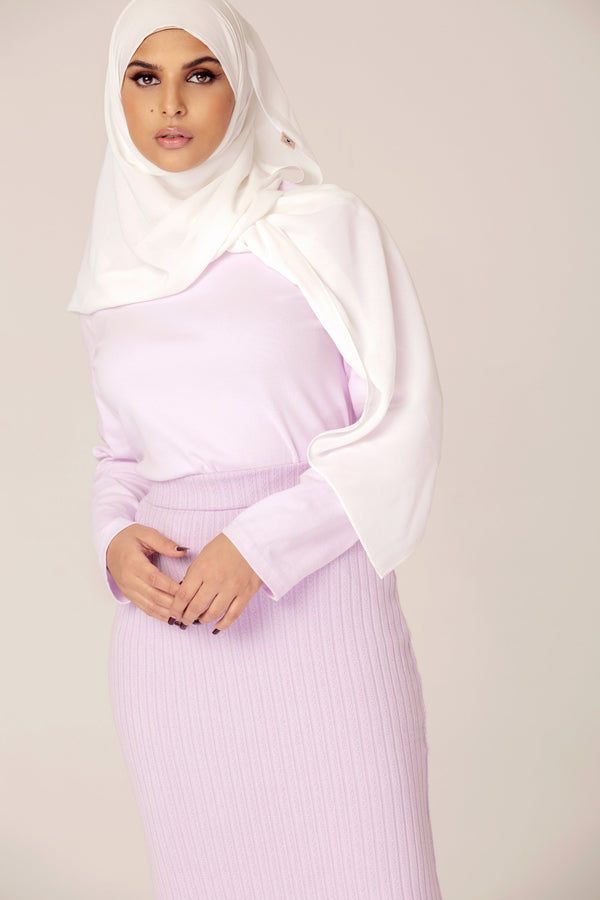 Lilac Matching Skirt Set